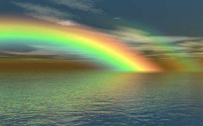 """""""Después de la lluvia … un arco iris, después de la tormenta … la calma y después de un final … un nuevo comienzo""""."""
