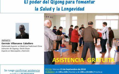 El Poder del Qigong para fomentar la Salud y la Longevidad