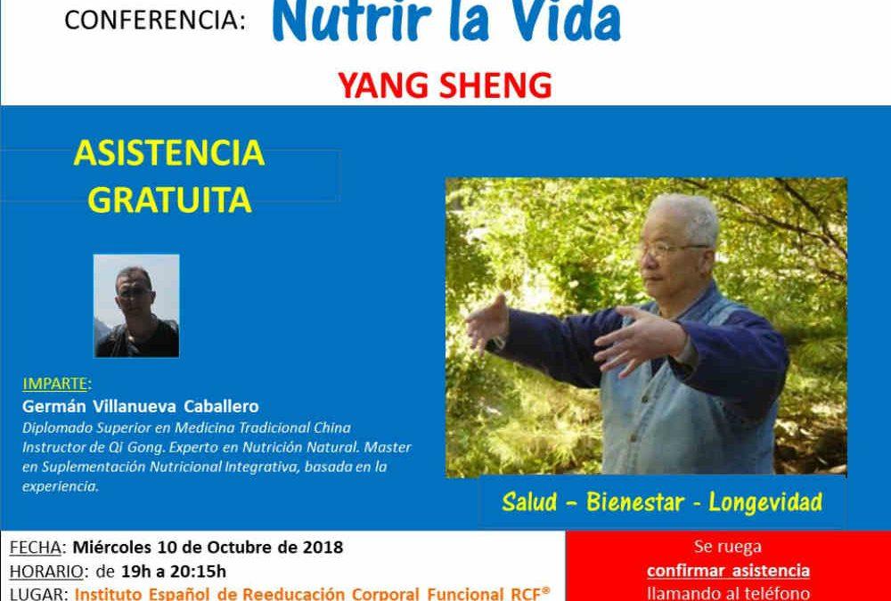 Nutrir la Vida. Yang Sheng