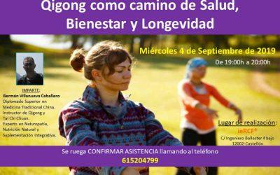 Conferencia: Qigong el camino hacia la Salud, Bienestar y Longevidad
